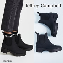 Jeffrey Campbell Plain Block Heels PVC Clothing Ankle & Booties Boots