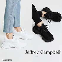 Jeffrey Campbell Platform Round Toe Lace-up Casual Style Blended Fabrics