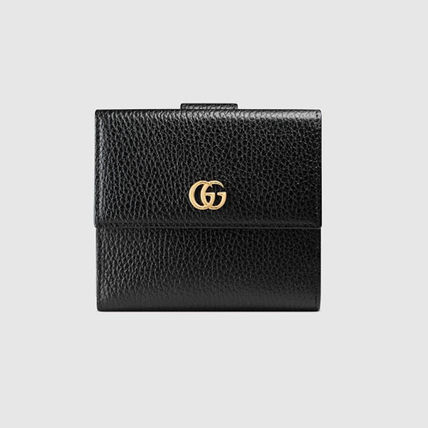 GUCCI GG Marmont Leather French Flap Wallet