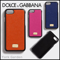 Dolce & Gabbana DOLCE Plain Leather Smart Phone Cases