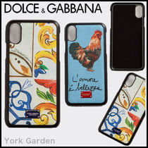 Dolce & Gabbana Unisex Other Animal Patterns Leather Smart Phone Cases
