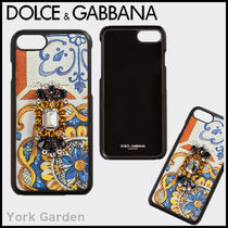 Dolce & Gabbana Leather With Jewels Smart Phone Cases