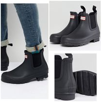 HUNTER Unisex Street Style Plain Chelsea Boots Chelsea Boots