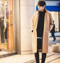 Wool Street Style Plain Long Oversized Chester Coats