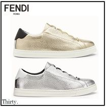 FENDI Rubber Sole Studded Leather Slip-On Shoes