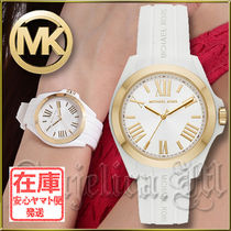 Michael Kors Casual Style Blended Fabrics Silicon Round Quartz Watches
