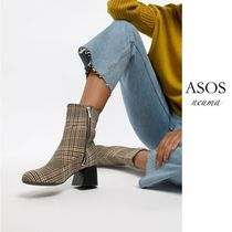 ASOS Other Check Patterns Round Toe Casual Style Street Style