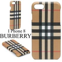 Burberry Other Check Patterns Unisex Leather Smart Phone Cases