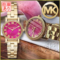 Michael Kors Round Quartz Watches Stainless With Jewels Analog Watches