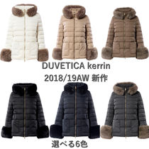 DUVETICA Fur Blended Fabrics Plain Down Jackets