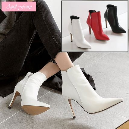 High Heel Faux Fur Pin Heels High Heel Boots
