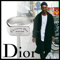 DIOR HOMME Plain Silver Rings