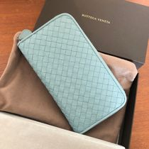 BOTTEGA VENETA Plain Leather Long Wallets