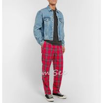 STUSSY Printed Pants Tartan Patterned Pants