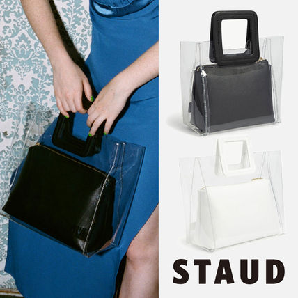 Casual Style Bag in Bag Plain Leather Handbags