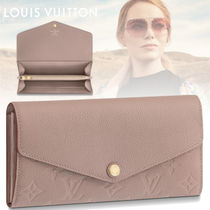 Louis Vuitton PORTEFEUILLE SARAH Monoglam Leather Long Wallets