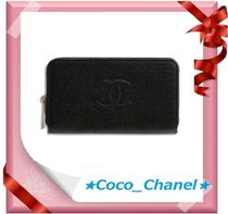 CHANEL TIMELESS CLASSICS Plain Leather Small Wallet Accessories