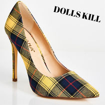 DOLLS KILL Other Check Patterns Casual Style Pin Heels