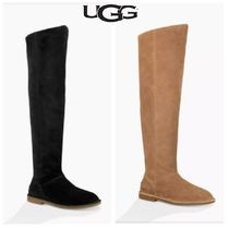 UGG Australia Rubber Sole Suede Plain Over-the-Knee Boots