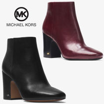 Michael Kors Rubber Sole Casual Style Plain Leather Ankle & Booties Boots