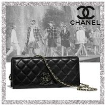 CHANEL Lambskin 2WAY Party Style Clutches