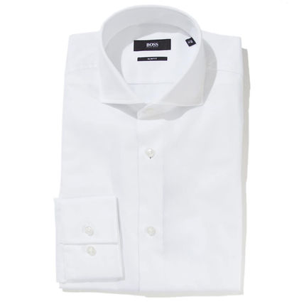 Hugo Boss Shirts Long Sleeves Cotton Shirts