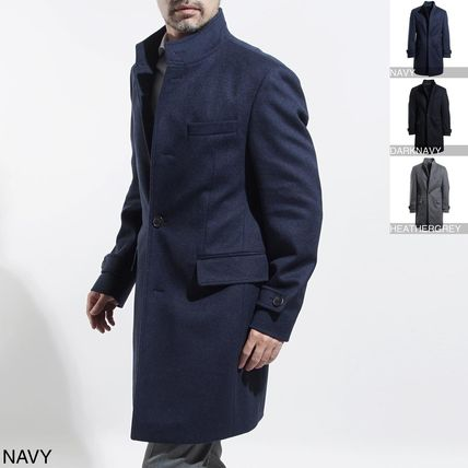 Stand Collar Coats Wool Long Coats