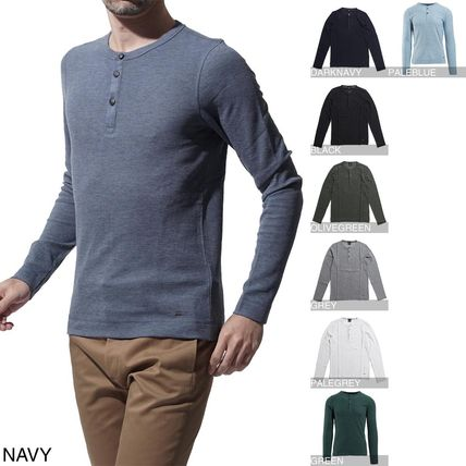 Crew Neck Long Sleeves Cotton Long Sleeve T-Shirts