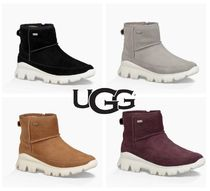 UGG Australia Rubber Sole Suede Blended Fabrics Plain Bold
