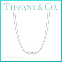 Tiffany & Co TIFFANY INFINITY Costume Jewelry Silver Elegant Style Necklaces & Pendants