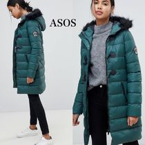 ASOS Casual Style Faux Fur Plain Long Duffle Coats