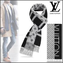 Louis Vuitton MONOGRAM Monogram Cashmere Street Style Bi-color Scarves