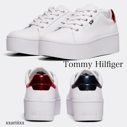 5aa2572a ... Tommy Hilfiger Platform & Wedge Platform Round Toe Lace-up Casual Style  Blended Fabrics ...