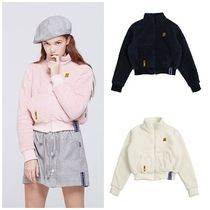 ROMANTIC CROWN Short Casual Style Street Style Plain Jackets