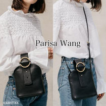 PARISA WANG Casual Style 2WAY Plain Leather Handmade Crossbody