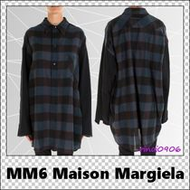 MM6 Maison Margiela Other Check Patterns Casual Style Wool Long Sleeves Medium