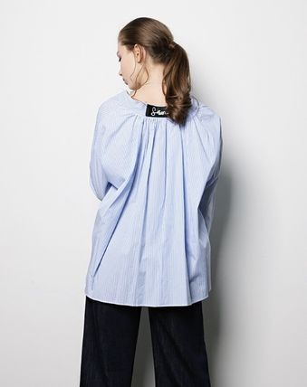 Stripes Casual Style Street Style Collaboration Long Sleeves