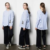 FIFI LAPIN Stripes Casual Style Street Style Collaboration Long Sleeves