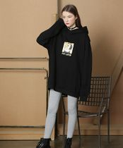 FIFI LAPIN Crew Neck Sweat Street Style Collaboration Long Sleeves