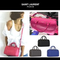 Saint Laurent DUFFLE Calfskin 2WAY Plain Elegant Style Handbags