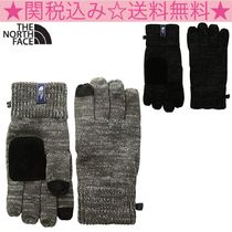 THE NORTH FACE Blended Fabrics Bi-color Plain Smartphone Use Gloves