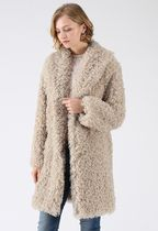 Chicwish Short Casual Style Faux Fur Street Style Plain Coats