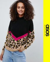 ASOS Leopard Patterns Casual Style Long Sleeves Sweaters