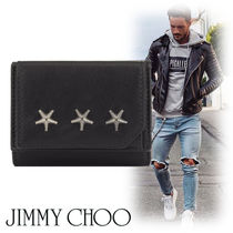 Jimmy Choo Studded Street Style Leather Folding Wallets