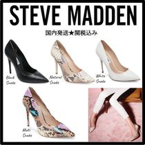 Steve Madden Faux Fur Pin Heels Python Pointed Toe Pumps & Mules