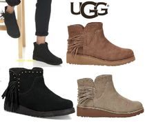 UGG Australia Round Toe Casual Style Street Style Leather