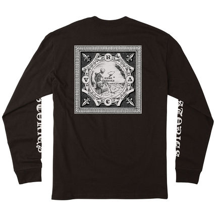 RVCA Long Sleeve Crew Neck Long Sleeves Cotton Logos on the Sleeves 3