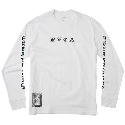 RVCA Long Sleeve Crew Neck Long Sleeves Cotton Logos on the Sleeves 4