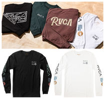 RVCA Long Sleeves Cotton Logos on the Sleeves
