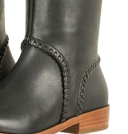 UGG Australia Street Style Plain Leather Office Style Flat Boots